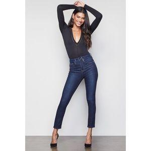 Good American Good Legs Crop Blue269 Skinny Jeans